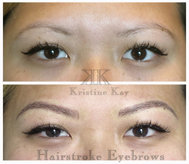 microblading hairstroke eyebrows kansas city